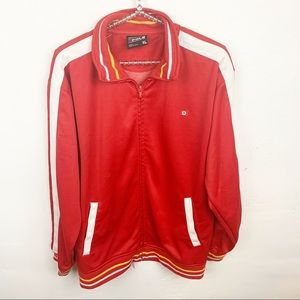 South Pole l Mens Red Zip Up Track Jacket